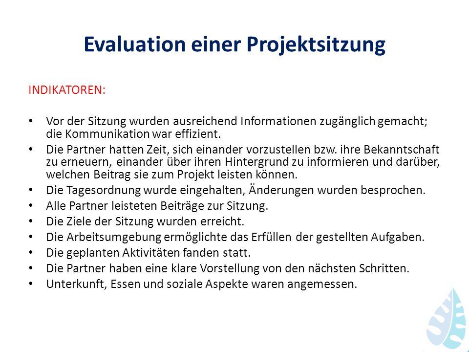 Evaluation einer Projektsitzung