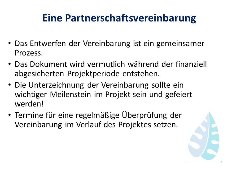 Eine Partnerschaftsvereinbarung