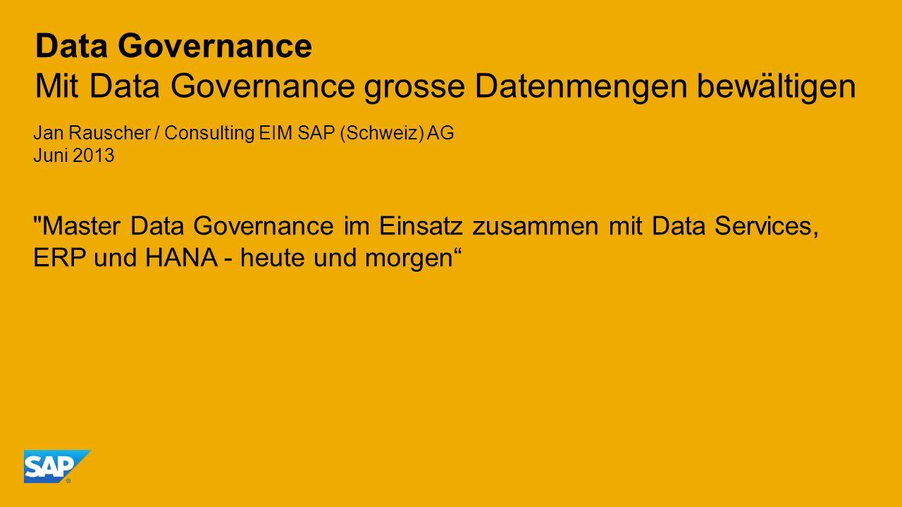 Data Governance Mit Data Governance grosse Datenmengen bewältigen