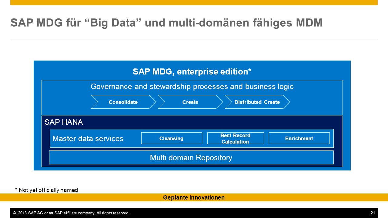 SAP MDG für Big Data und multi-domänen fähiges MDM