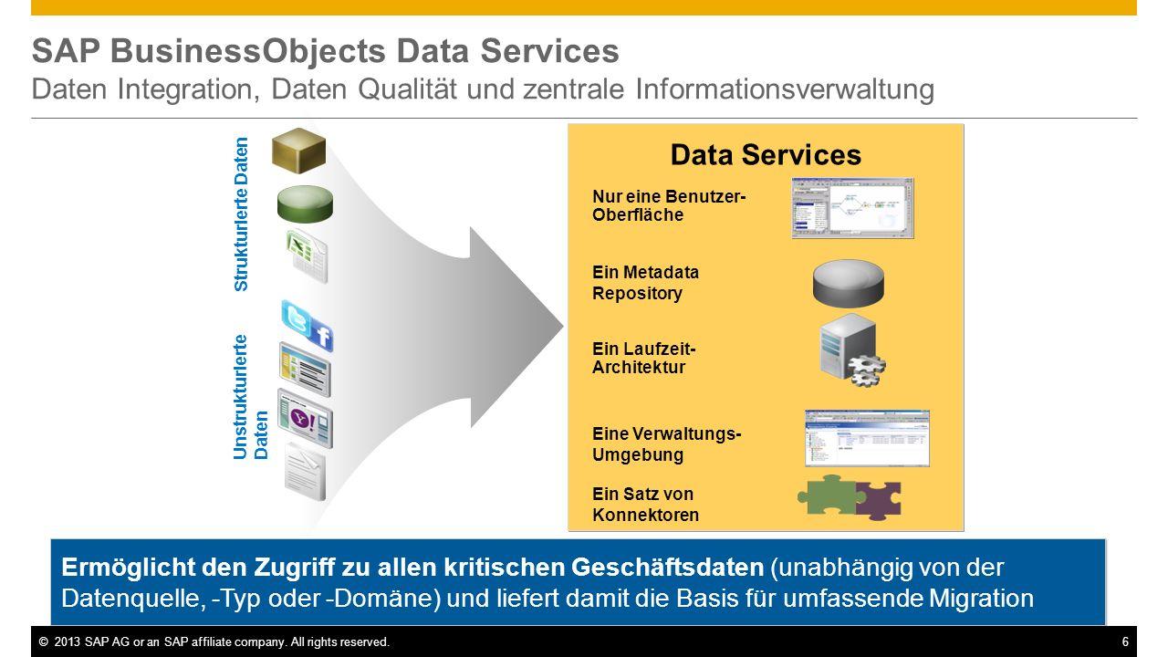 SAP BusinessObjects Data Services Daten Integration, Daten Qualität und zentrale Informationsverwaltung