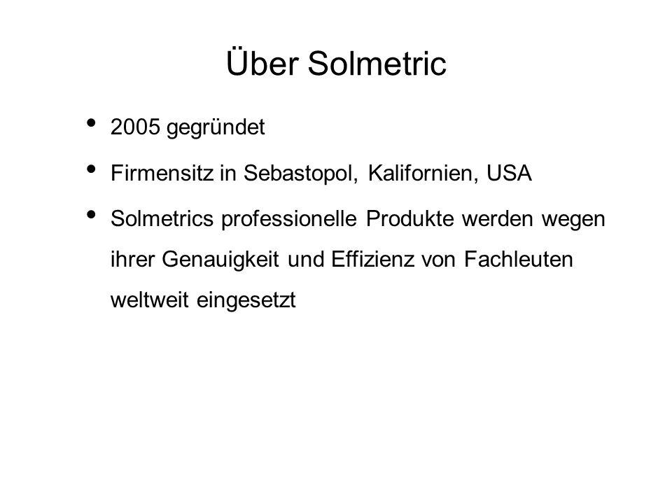 Über Solmetric 2005 gegründet