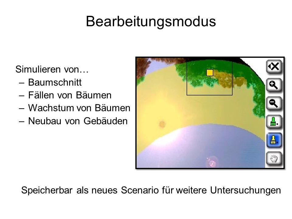 Bearbeitungsmodus Simulieren von… Baumschnitt Fällen von Bäumen