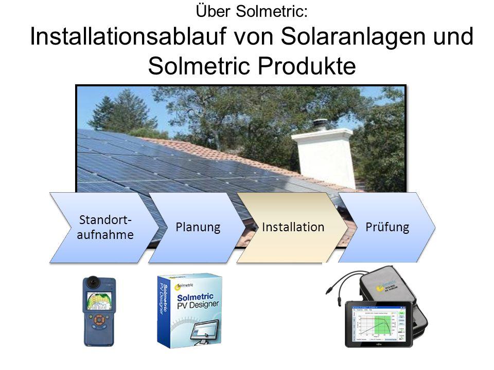 Installationsablauf von Solaranlagen und Solmetric Produkte