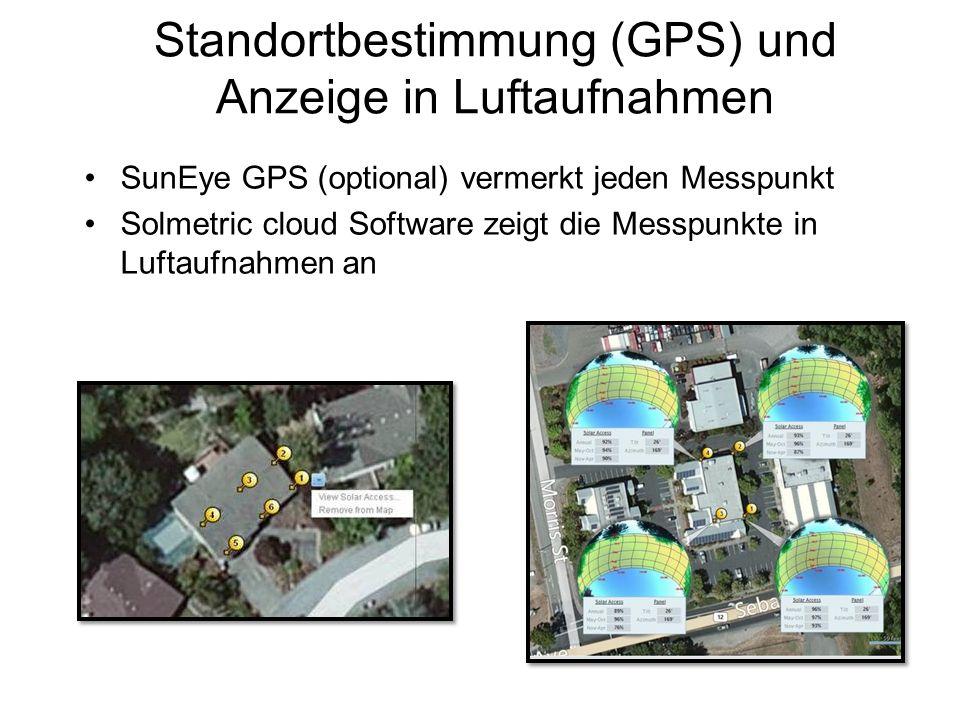 Standortbestimmung (GPS) und Anzeige in Luftaufnahmen