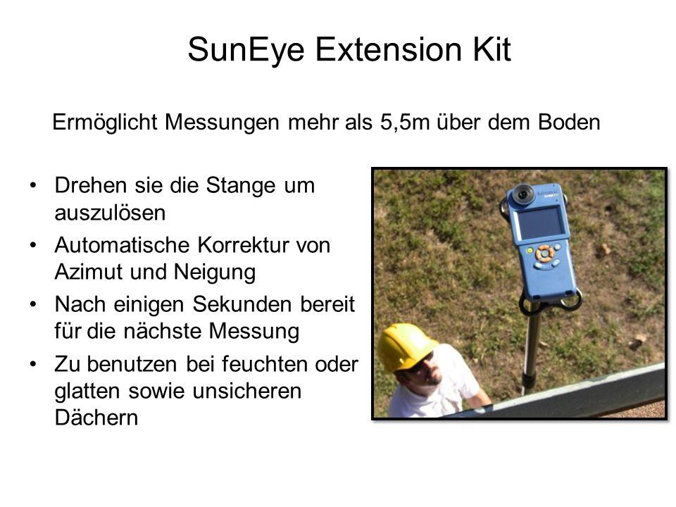 SunEye Extension Kit Ermöglicht Messungen mehr als 5,5m über dem Boden