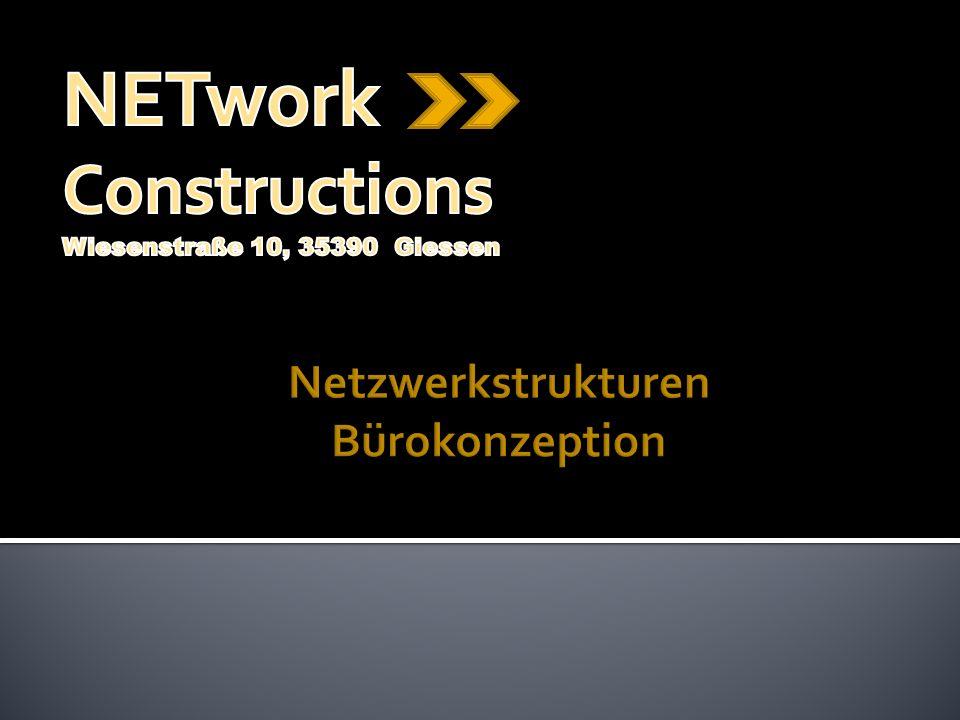 Netzwerkstrukturen Bürokonzeption
