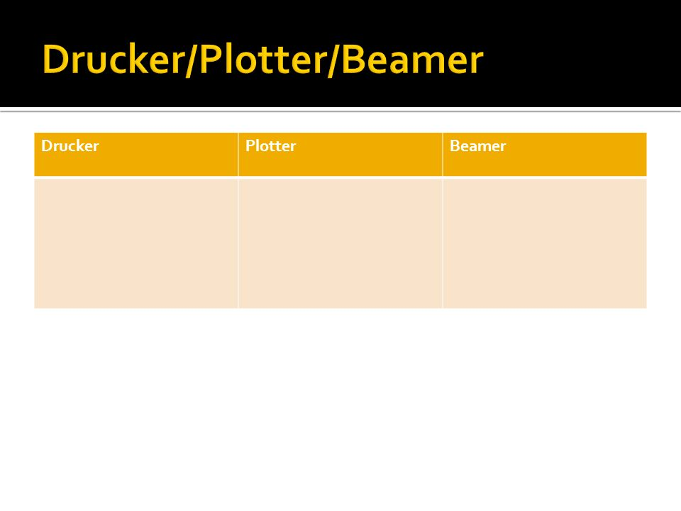 Drucker/Plotter/Beamer