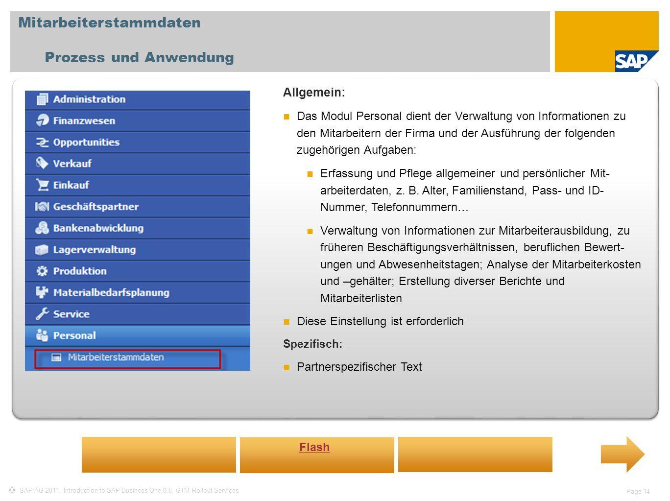 Mitarbeiterstammdaten Prozess und Anwendung