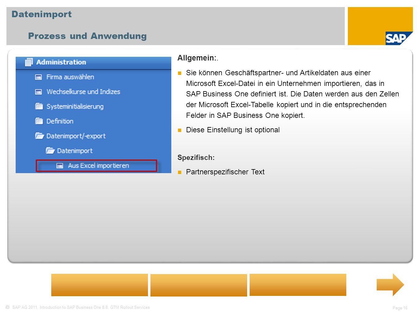 Datenimport Prozess und Anwendung Allgemein:.