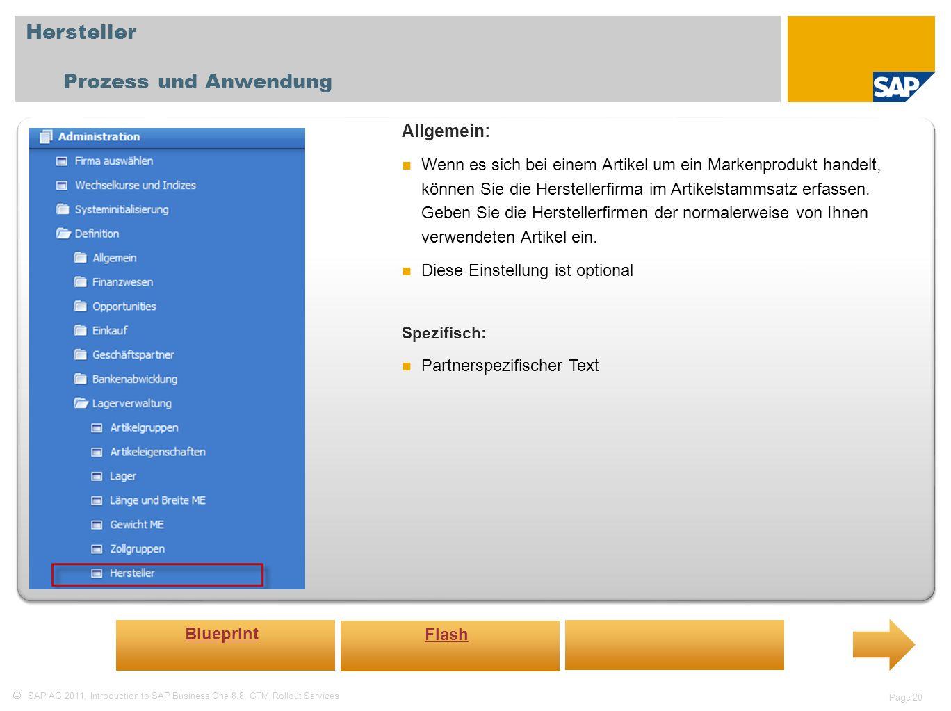 Hersteller Prozess und Anwendung Allgemein: