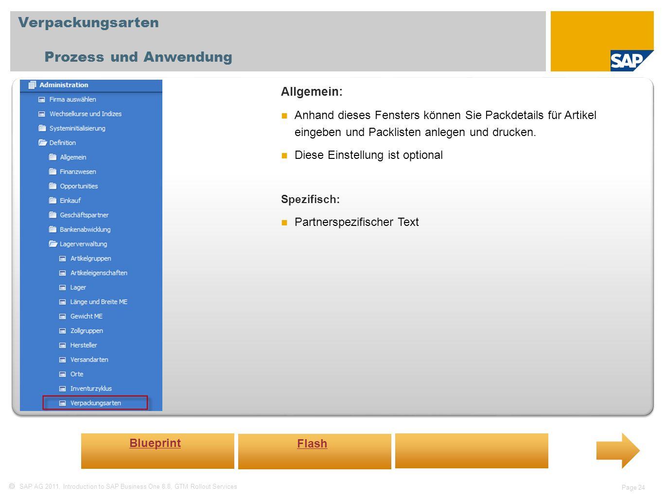 Verpackungsarten Prozess und Anwendung Allgemein: