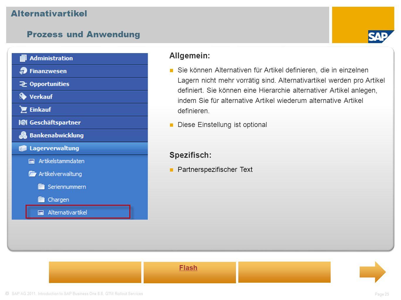 Alternativartikel Prozess und Anwendung Allgemein: Spezifisch: