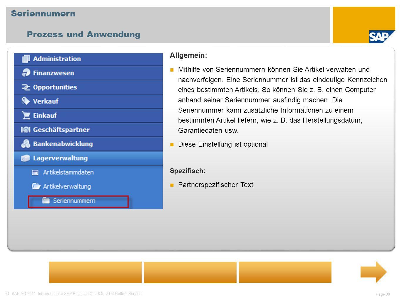 Seriennumern Prozess und Anwendung Allgemein: