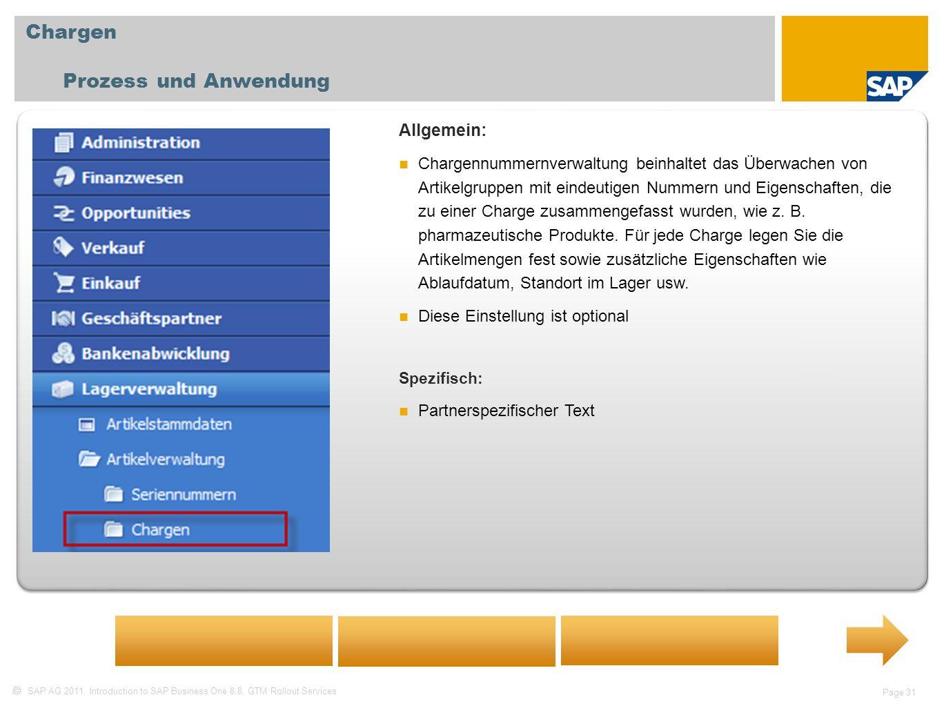 Chargen Prozess und Anwendung Allgemein: