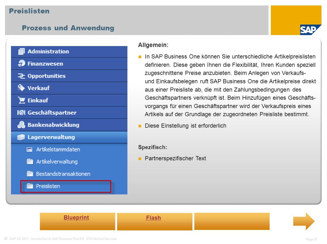 Preislisten Prozess und Anwendung Allgemein: