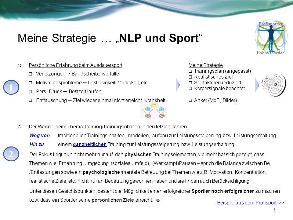 """Meine Strategie … """"NLP und Sport"""