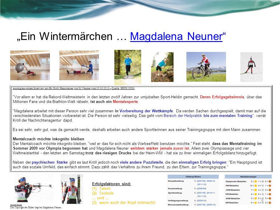 """""""Ein Wintermärchen … Magdalena Neuner"""