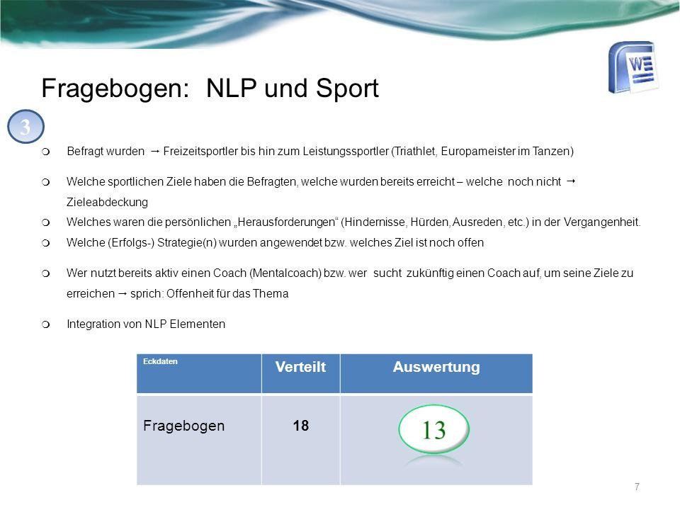 Fragebogen: NLP und Sport