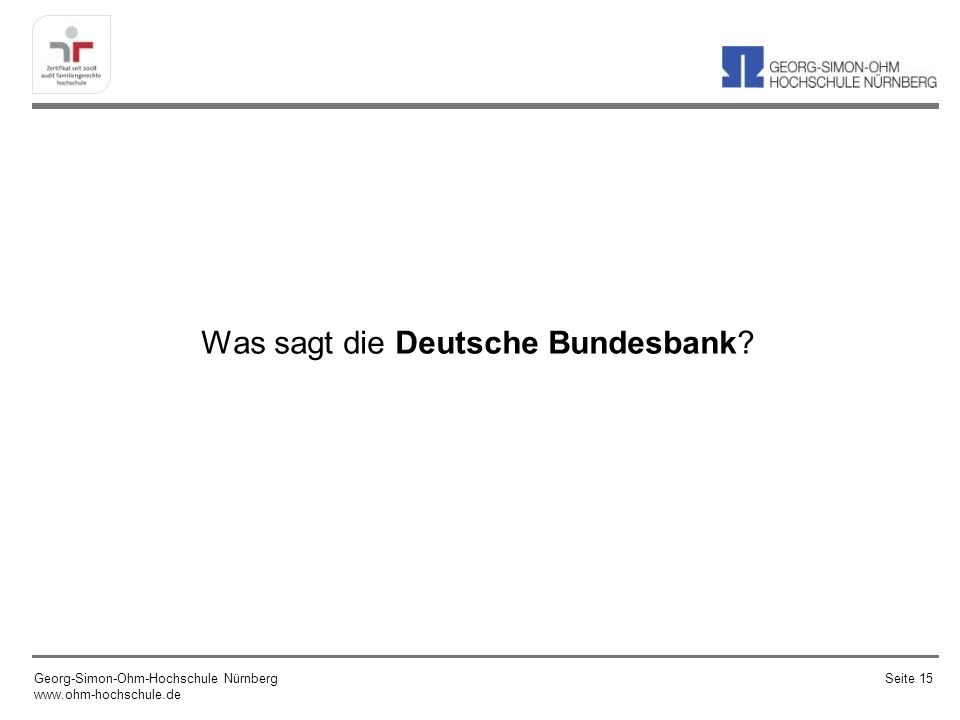 Was sagt die Deutsche Bundesbank