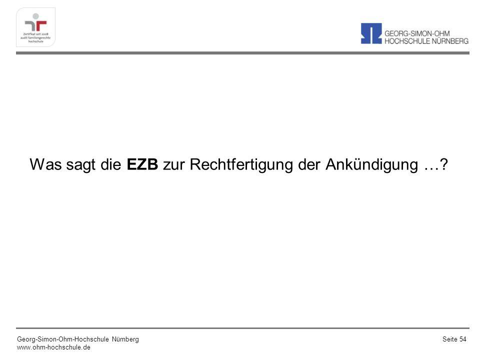 Was sagt die EZB zur Rechtfertigung der Ankündigung …