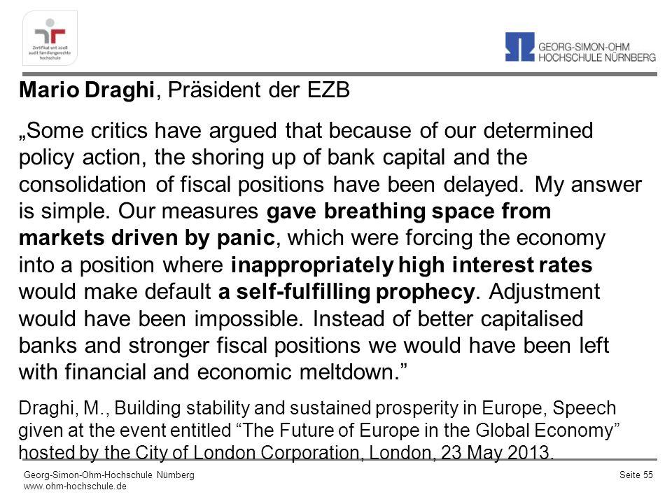 Mario Draghi, Präsident der EZB