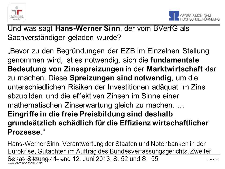 Und was sagt Hans-Werner Sinn, der vom BVerfG als Sachverständiger geladen wurde