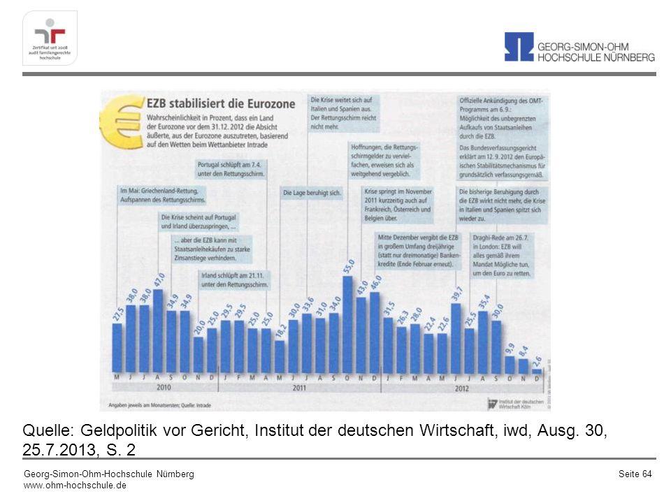 Quelle: Geldpolitik vor Gericht, Institut der deutschen Wirtschaft, iwd, Ausg. 30, 25.7.2013, S. 2