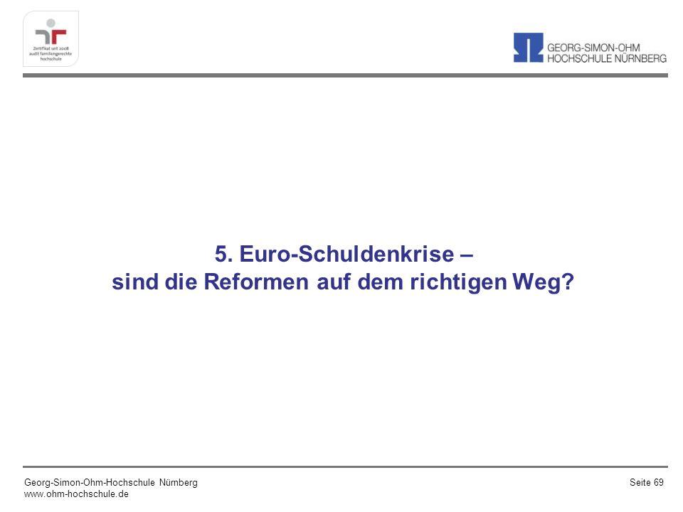 5. Euro-Schuldenkrise – sind die Reformen auf dem richtigen Weg