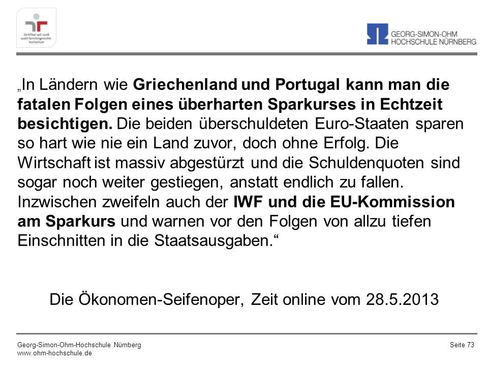 Die Ökonomen-Seifenoper, Zeit online vom 28.5.2013