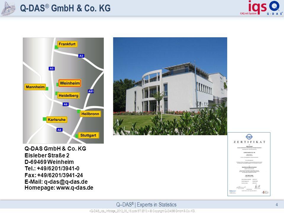Q-DAS® GmbH & Co. KG Q-DAS GmbH & Co. KG Eisleber Straße 2 D-69469 Weinheim Tel.: +49/6201/3941-0 Fax: +49/6201/3941-24 E-Mail: q-das@q-das.de.