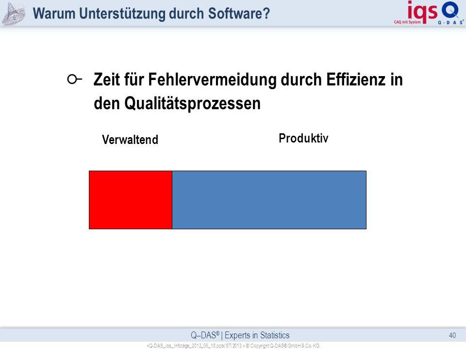 Warum Unterstützung durch Software