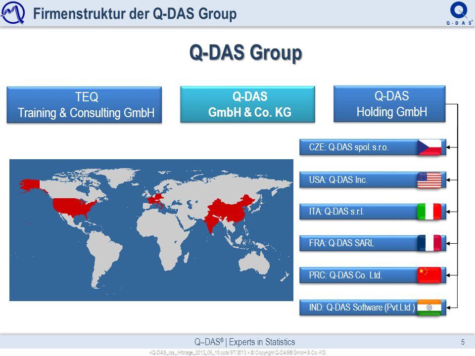 Firmenstruktur der Q-DAS Group