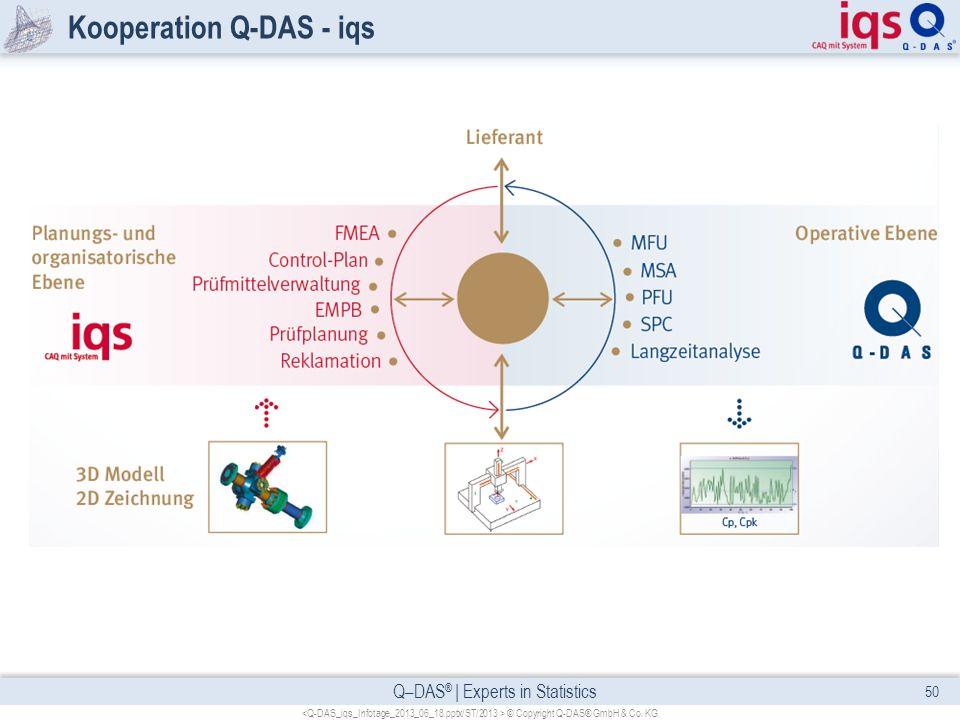 Kooperation Q-DAS - iqs