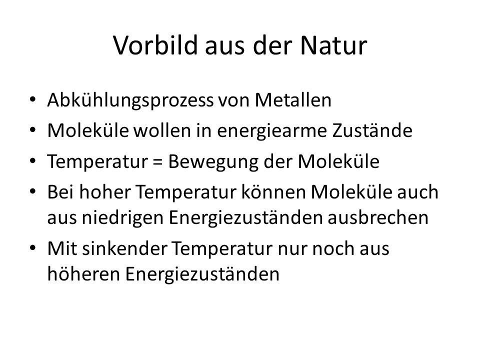 Vorbild aus der Natur Abkühlungsprozess von Metallen