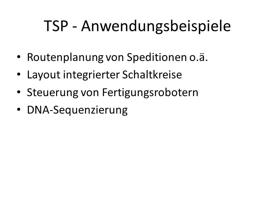 TSP - Anwendungsbeispiele