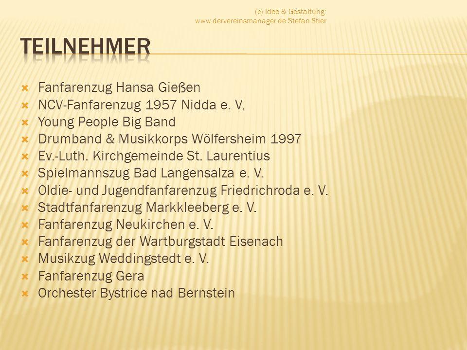 Teilnehmer Fanfarenzug Hansa Gießen NCV-Fanfarenzug 1957 Nidda e. V,