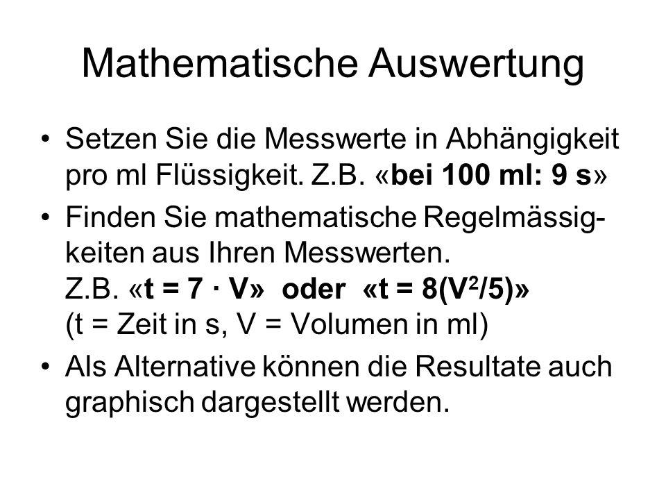 Mathematische Auswertung
