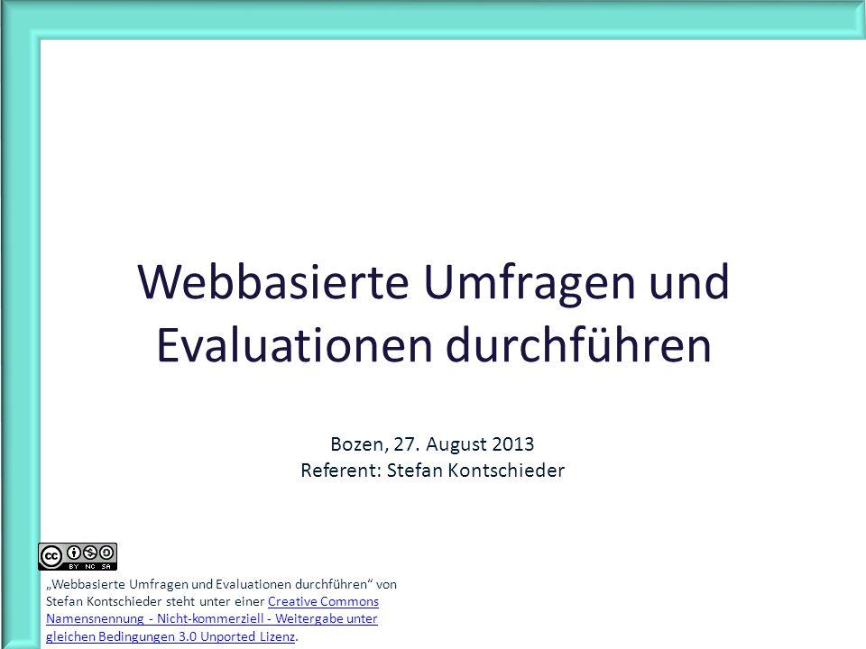 Webbasierte Umfragen und Evaluationen durchführen