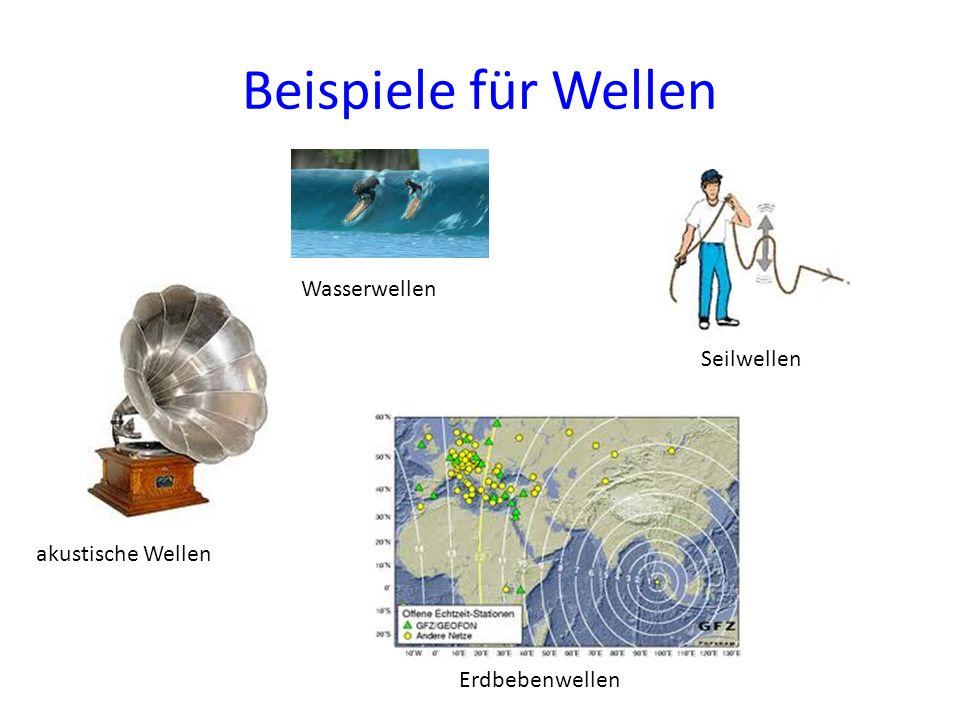 Beispiele für Wellen Wasserwellen Seilwellen akustische Wellen