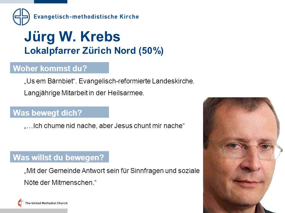 Jürg W. Krebs Lokalpfarrer Zürich Nord (50%)