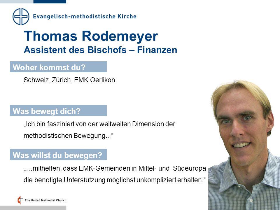 Thomas Rodemeyer Assistent des Bischofs – Finanzen