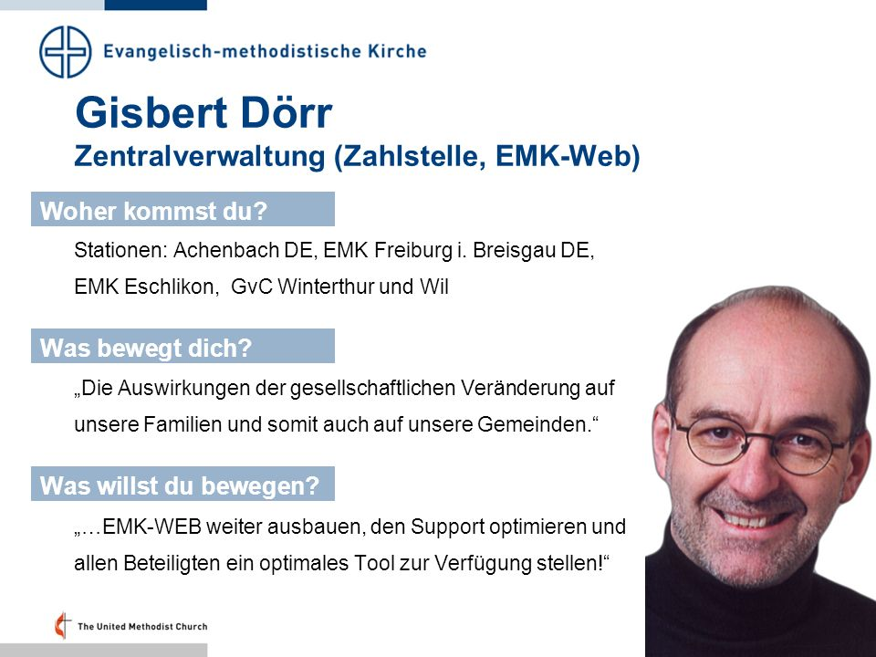 Gisbert Dörr Zentralverwaltung (Zahlstelle, EMK-Web)