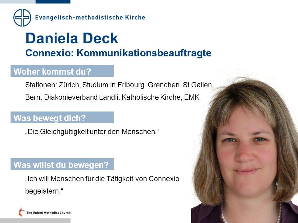Daniela Deck Connexio: Kommunikationsbeauftragte