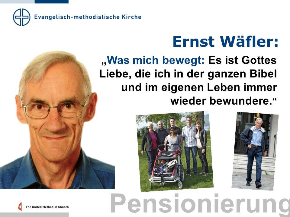 Pensionierung Ernst Wäfler: