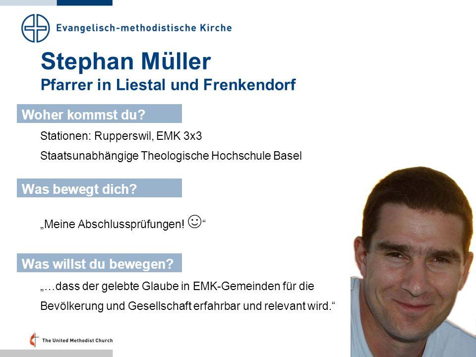 Stephan Müller Pfarrer in Liestal und Frenkendorf