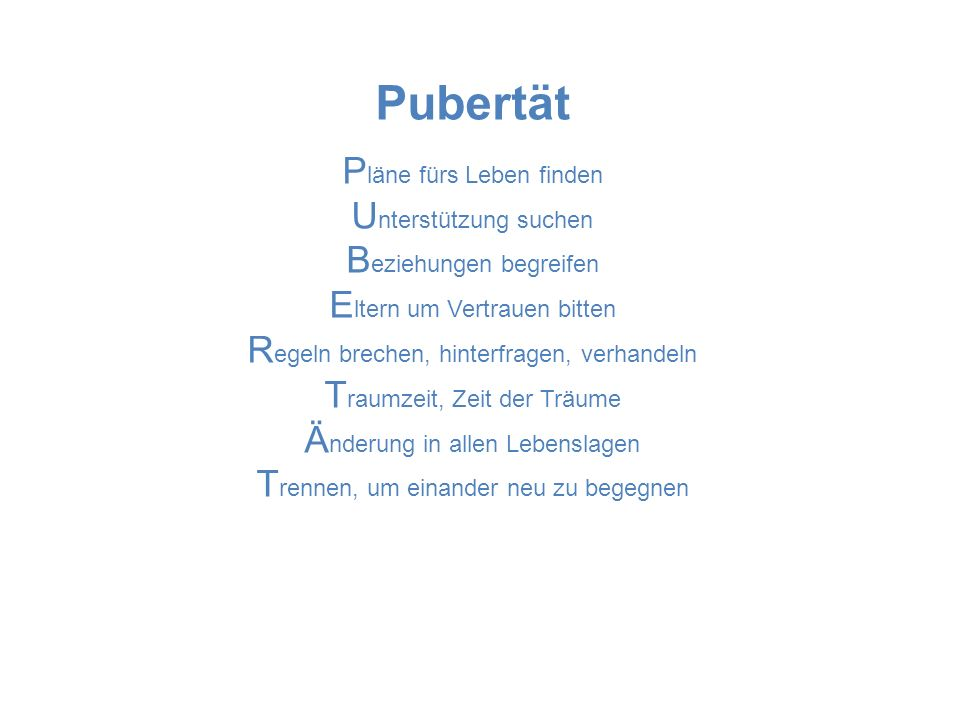 Pubertät Pläne fürs Leben finden Unterstützung suchen