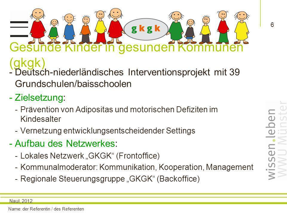 Gesunde Kinder in gesunden Kommunen (gkgk)