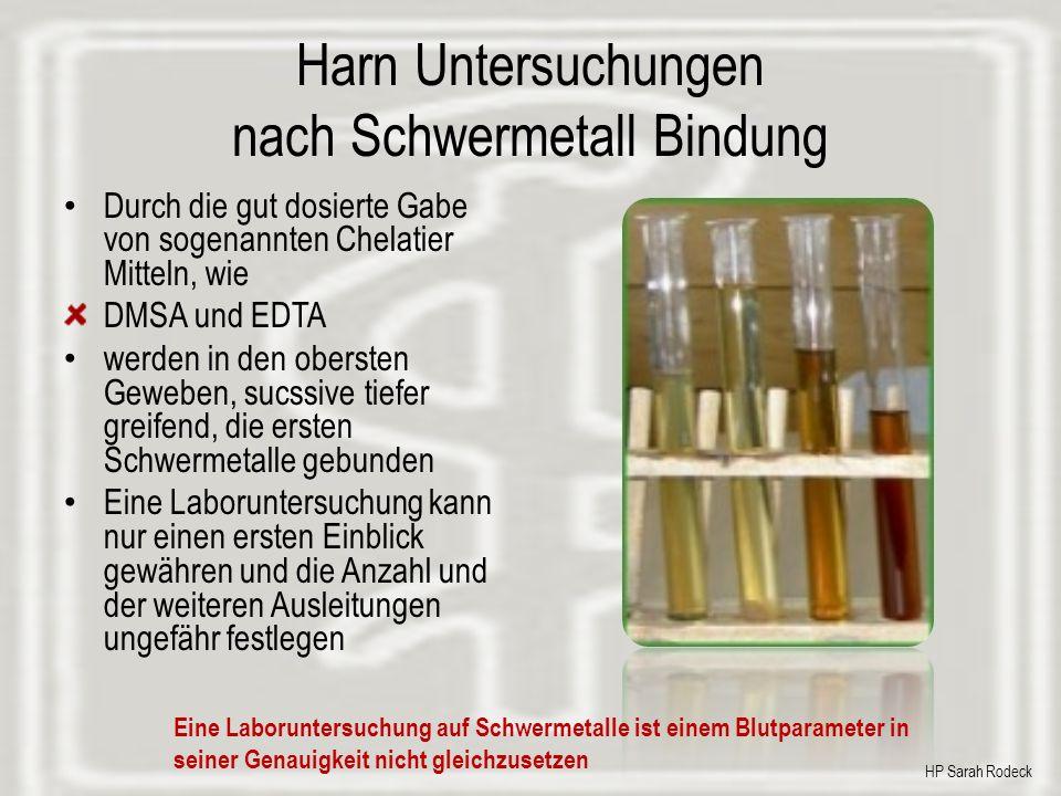 Harn Untersuchungen nach Schwermetall Bindung