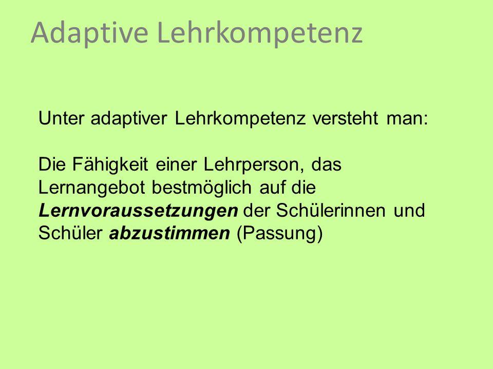 Adaptive Lehrkompetenz